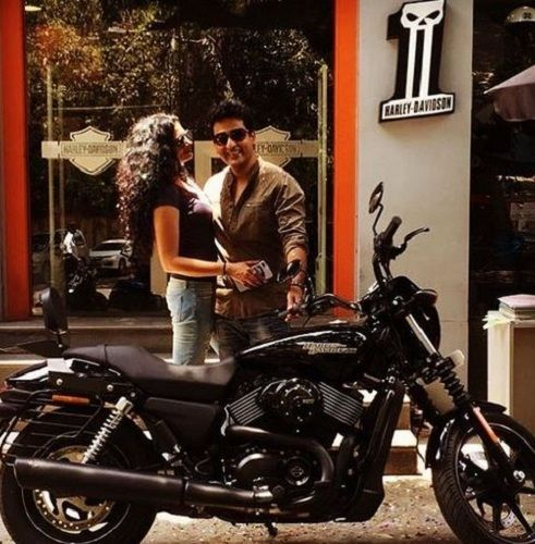 Ronnit Biswas's With His Wife and Motorcycle