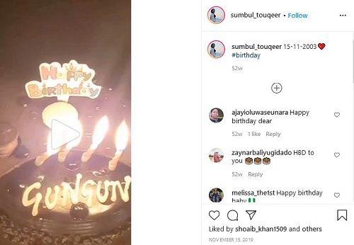 Sumbul Touqeer Khan's Instagram Post