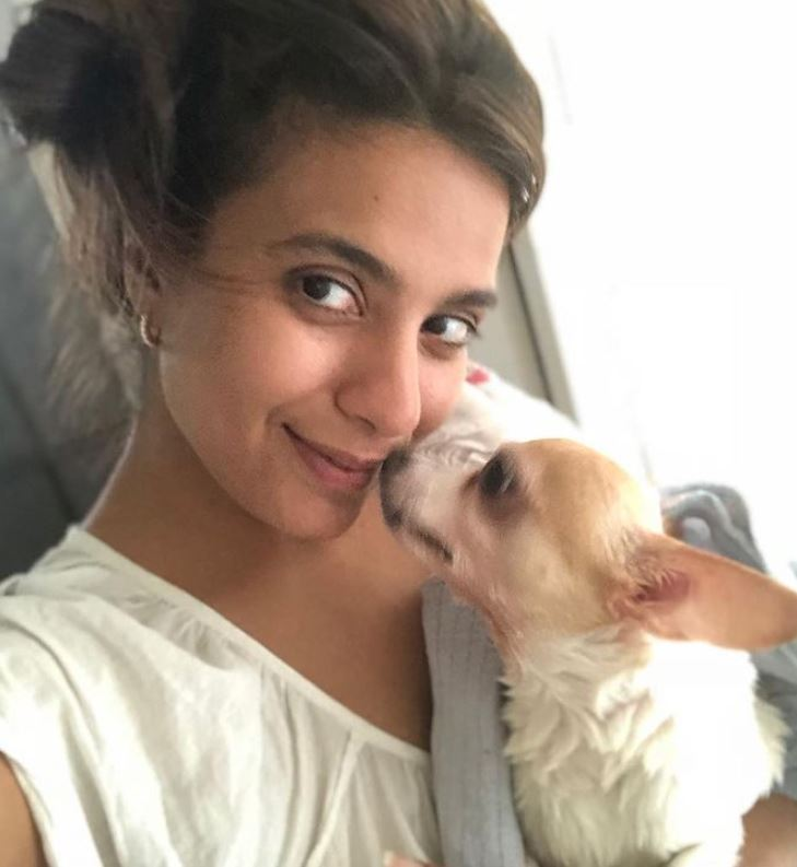 Bhavna Ruparel with her pet dog
