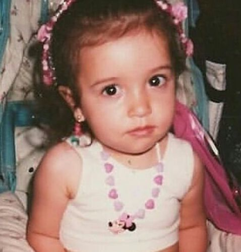 Christian Serratos as a Child