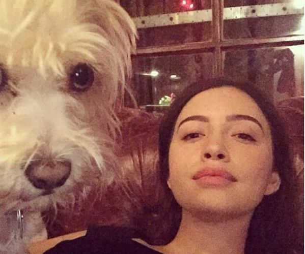 Christian Serratos with her Pet