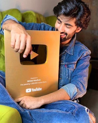 Mridul Madhok's YouTube Play Button