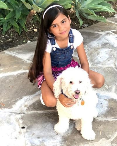 Madison Taylor Baez with her Pet