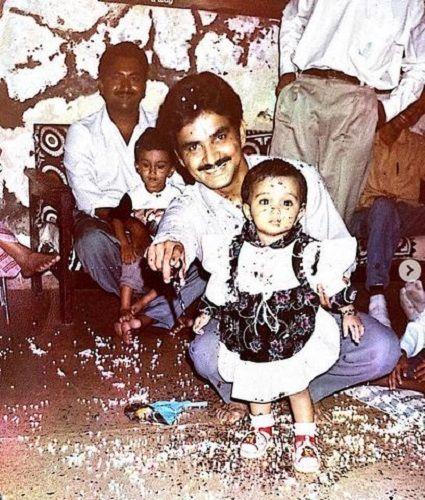 Prajakta Koli's Childhood Picture With Her Father