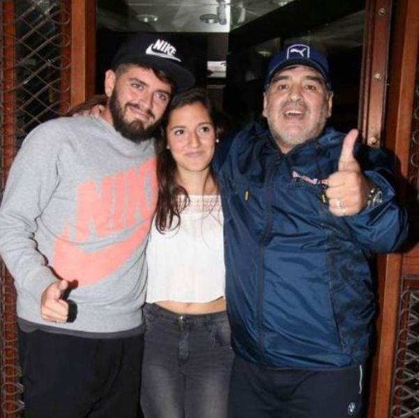 Diego Sinagra, Jana Maradona, and Diego Maradona