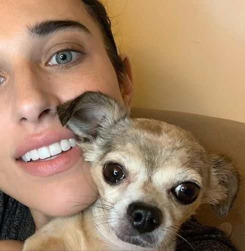 Molly Hurwitz with her Pet Dog