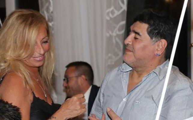 Cristiana Sinagra with Diego Maradona