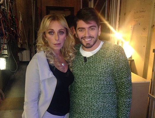 Cristiana Sinagra with her Son