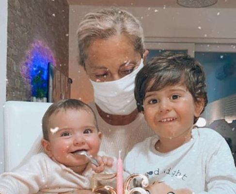 Cristiana Sinagra with her Grandchildren
