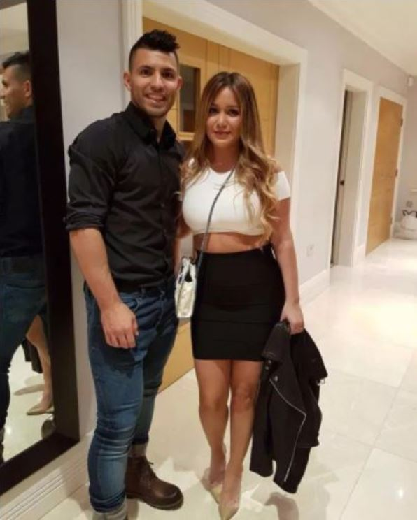 Sergio Agüero with Karina Tejeda