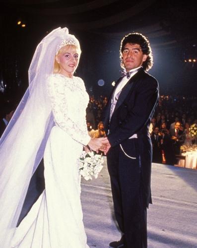 Claudia Villafañe with Diego Armando Maradona