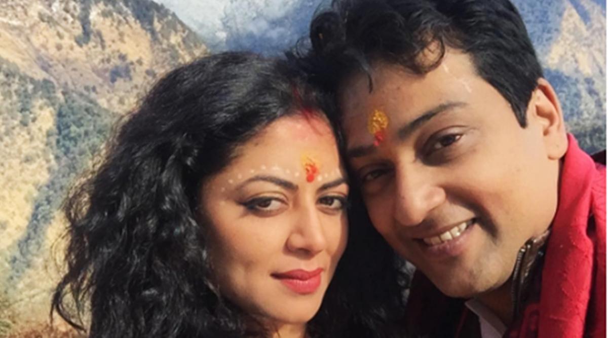 Kavita Kaushik with her husband