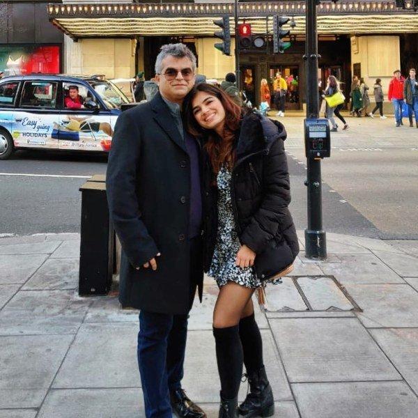 Atul Khatri with his daughter Mishti