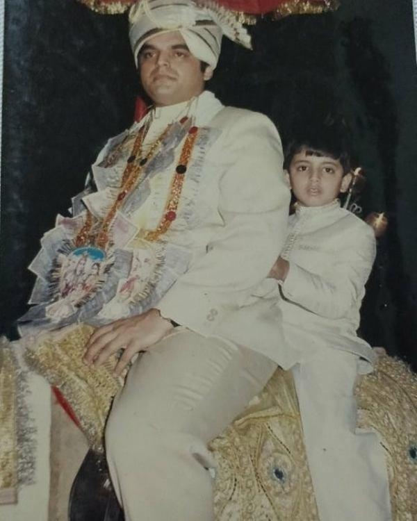 Atul Khatri on his marriage day