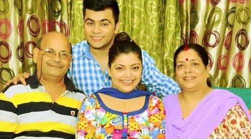 Divya Bhatnagar with her Family