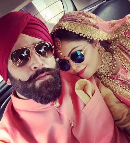 Divya Bhatnagar with her Husband