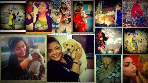 Divya Bhatnagar with her Pet Animals