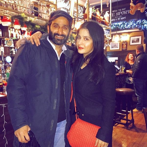 Maheep Kapoor with her brother
