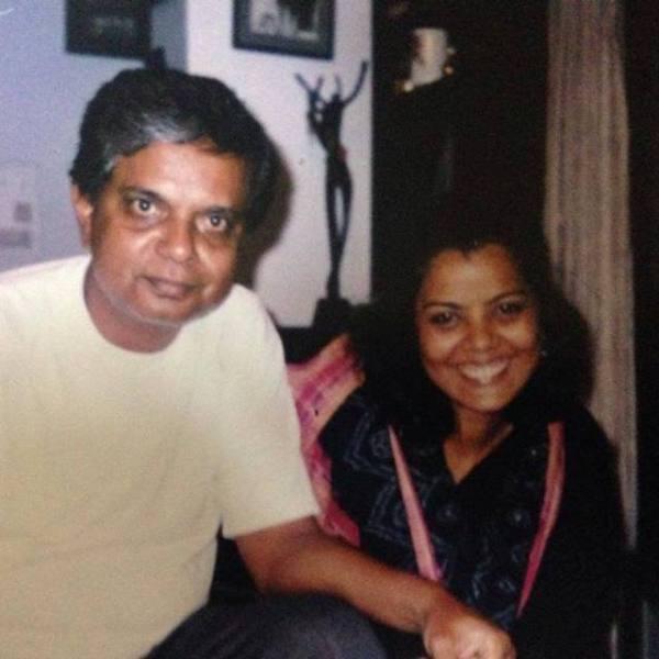 Sadashiv Amrapurkar with his daughter Ketaki