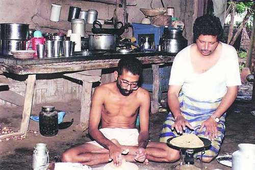 Dr. Ravindra Kolhe living in his house in Melghat
