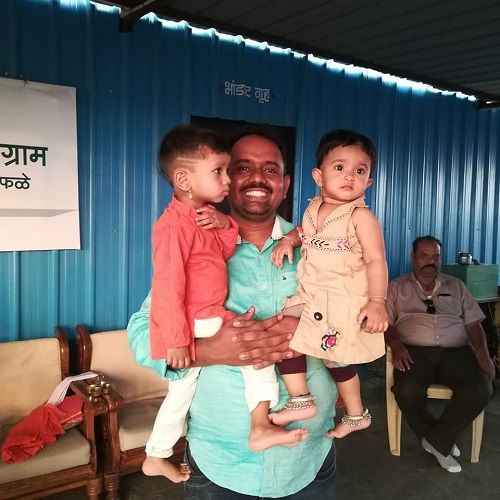 Ranjitsinh Disale's Brother with Kids