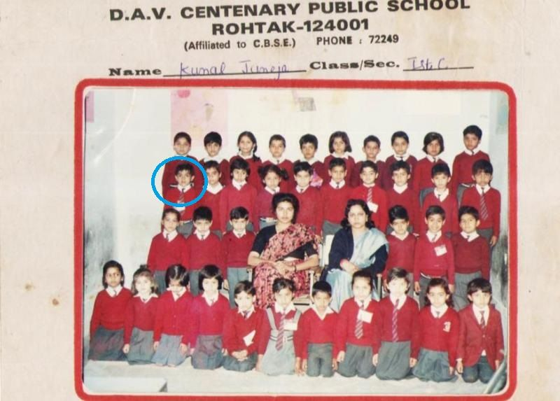 Sumit Anand during his school life