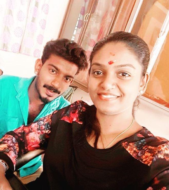 Premi Vishwanath with her brother
