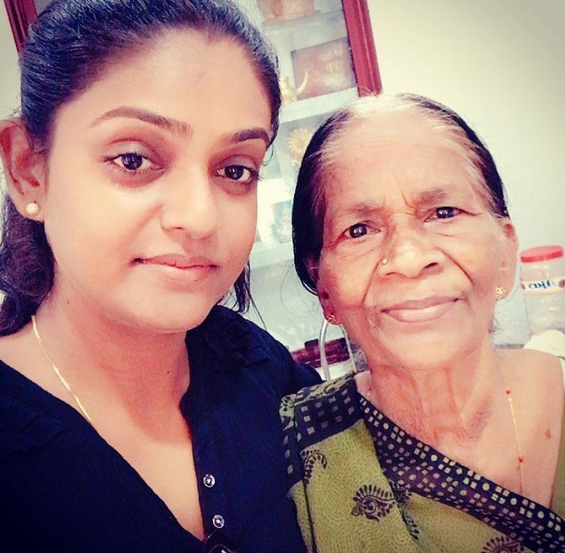Premi Vishwanath with her grandmother