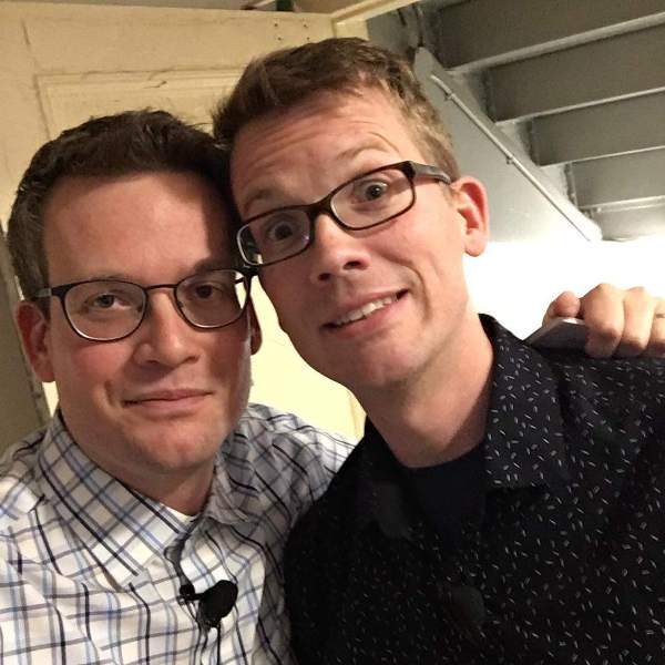 John Green with brother Hank Green