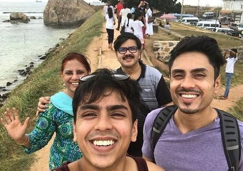 Adarsh Gourav and his Family