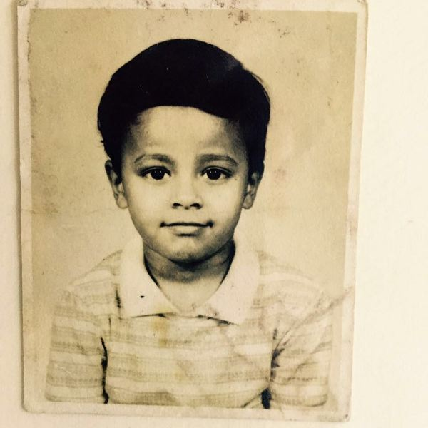 A rare pic of Sorabh's childhood