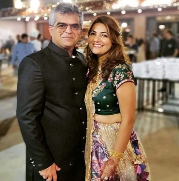 Atul Khatri with his wife