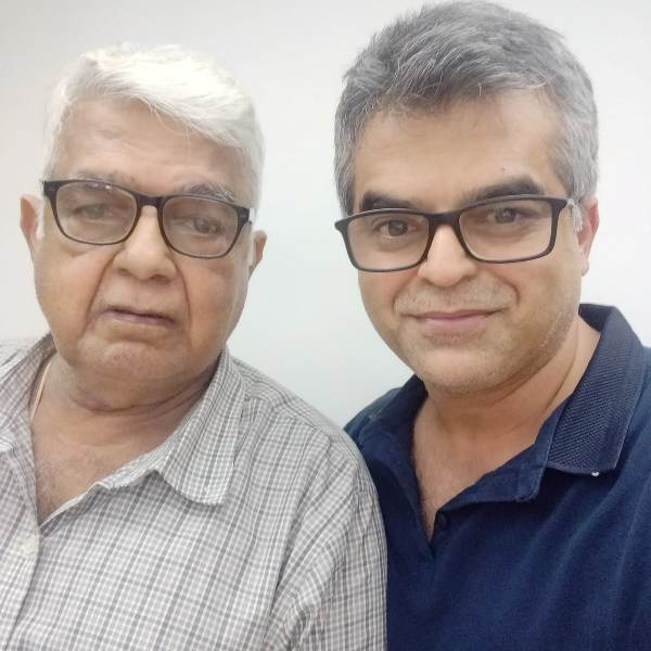 Atul Khatri with his father