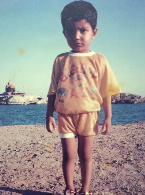 Sreenath Bhasi in childhood
