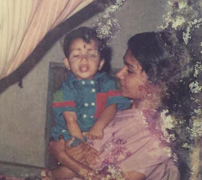 Sreenath Bhasi with his mother