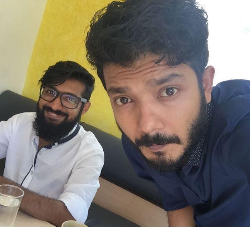 Sreenath Bhasi with his brother
