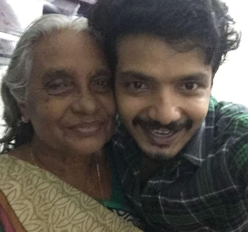 Sreenath Bhasi with his grandmother