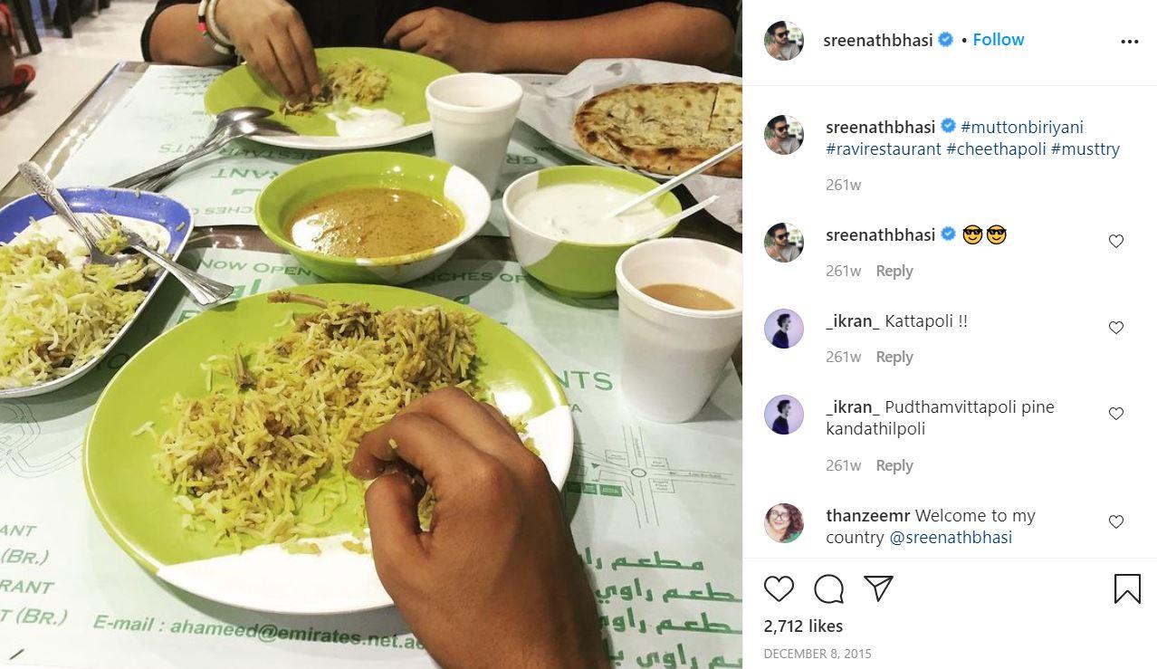 Sreenath Bhasi's Instagram Post
