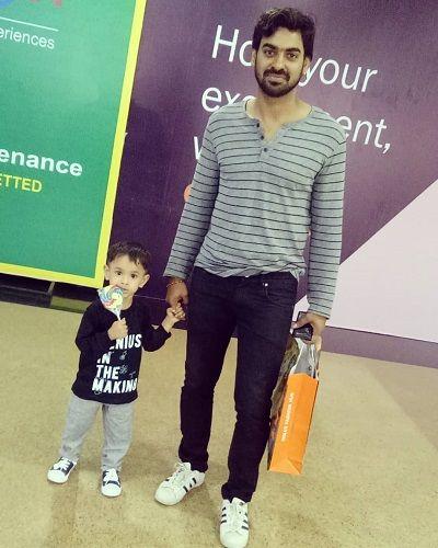 Aditya Ojha and his Son