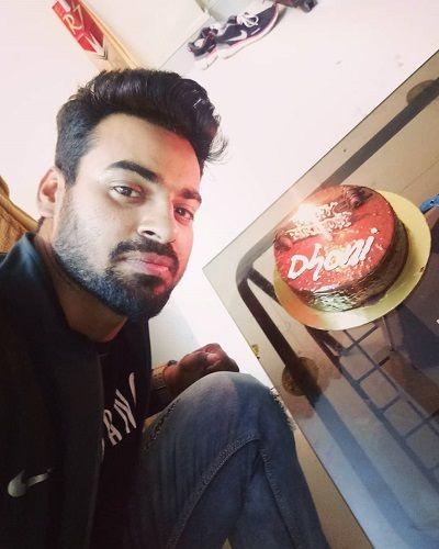 Aditya Ojha with his Birthday Cake