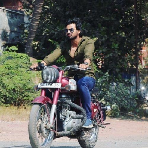 Aditya Ojha Riding his Motorcycle