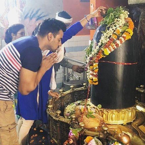 Aditya Ojha in a Shiva Temple