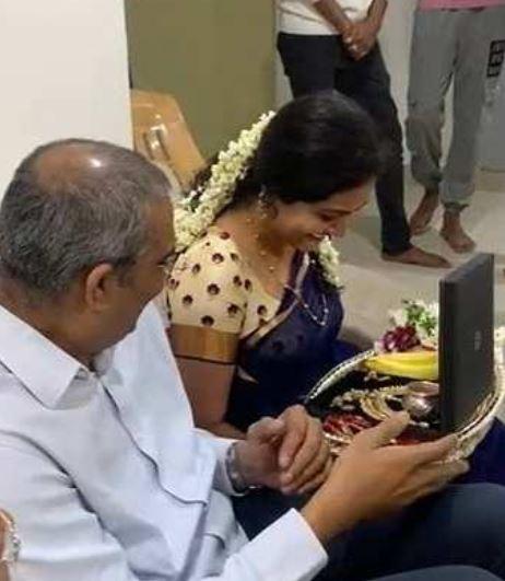 Ram Veerapaneni during his engagement