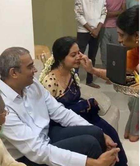 Ram Veerapanenion his engagement day