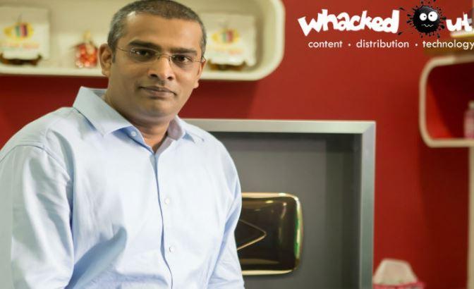 Ram Veerapaneni inside his office