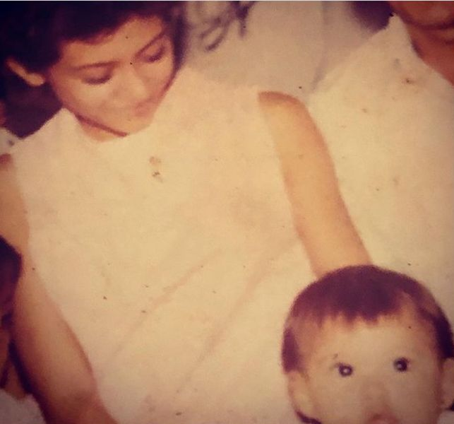 Childhood Picture of Seidy López with her Mother