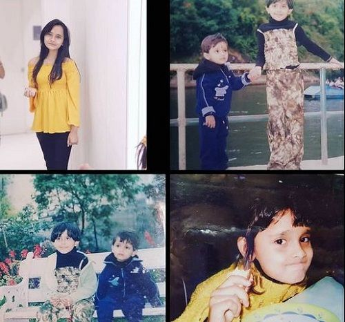 A Collage of Debattama Saha and her Sister