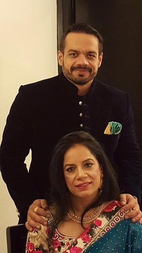Gaurav Taneja and his Mother