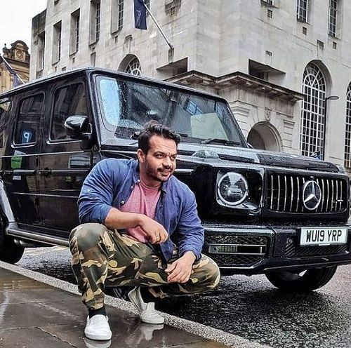 Gaurav Taneja with his Mercedes Car