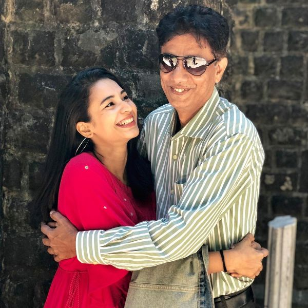 Anjali Barot with her father